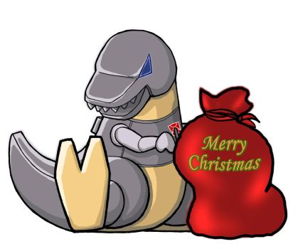 Grimlock for Christmas by PrimaCat