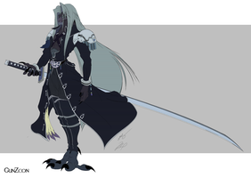 FF7 Sephiroth Avian Form Color by GunZcon