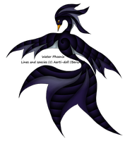 Hatched! Black Spiral Water Phoenix by aerti-doll