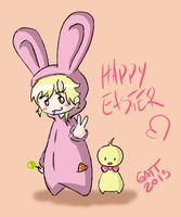 Bunny (Happy Easter) by pinkkuneko