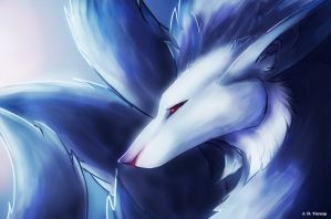 Shiny ninetails by turnipBerry