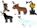 Halloween Adopts (OPEN) by BlexAdopts