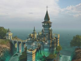 Fantasy castle background 6 by indigodeep