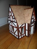 Foam Core Dollhouse WIP 13 Roof Done by kayanah