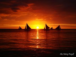 The Sunset of Boracay by SniperOfSiberia