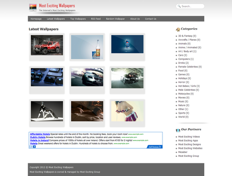 Wallpapers Website Design by mesandmes
