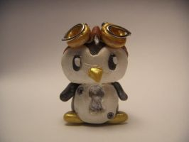 Steampunk Penguin #3(with eyes and belly painted) by XDtheBEASTXD