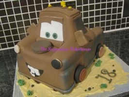 Disney Pixar Mater Cars Birthday Cake by SugarplumB