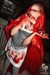 tasty little bloody wolve - red riding hoods fav by schneeweiss-blutrot