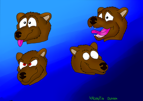 Paint Sai Tool ( the ferrets expressions ) by valentinfrench