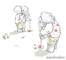 Elephant Croquet by bensigas