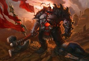 League of Legends - Sion - Fall of Demacia by Vaejoun