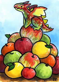 30 Days of Dragons - Day 28 - King of Apples by SpaceTurtleStudios