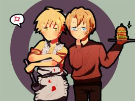Aph : Food Fight by ChocoHal