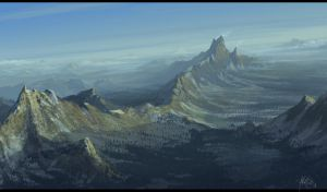 Mountain Range by matellis