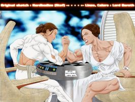 Padme and Leia Colored 2 by hardbodies