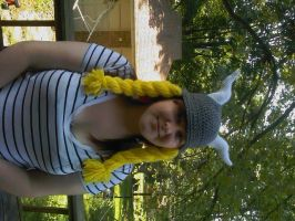 crochet girl viking hat by Drgibbs