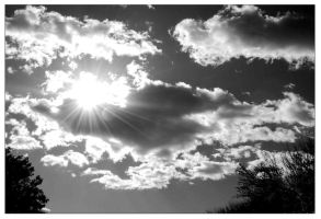 black and white clouded sun by bamphotography13