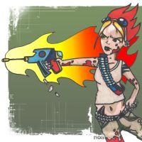 Urban Warrior Chick by noakrank