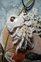 Spiny Jewelbox Octopus Necklace by BlackMagdalena