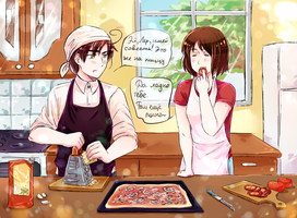 Let's cook the pizza by Vermutlich-die-Maler