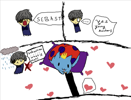 Sebastian and Catbug by TheNeoKnight