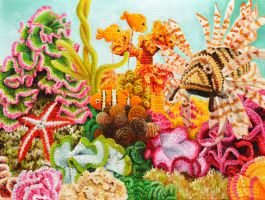 Crocheted coral reef by veracauwenberghs