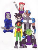 Teen Titans Go by RedWingsDragon