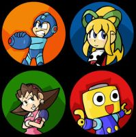 Mega Man Button Set by Pembroke