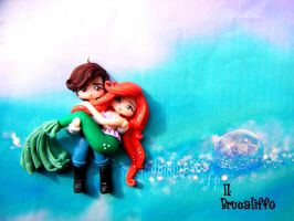 Little mermaid ariel whit eric by BrucaliffoBijoux