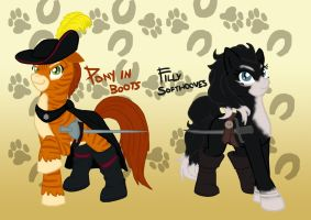 Pony in Boots and Filly Softhooves by tiakaneko