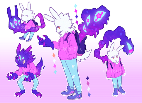 pastel bunny demon AUCTION -CLOSED- by Dotoriii