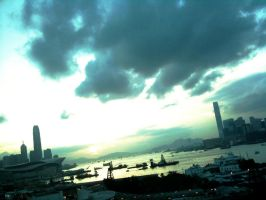 Sky in HK by maomaocandyfloss333