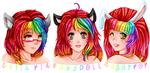 The Rainbow Sisters by M-3-1