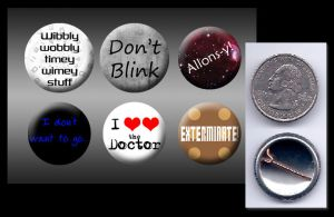 10th Doctor Who buttons by eitanya