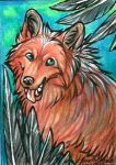 I'm Happy ACEO by Ooupoutto