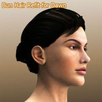 Bun Hair Refit for Dawn by ratorama