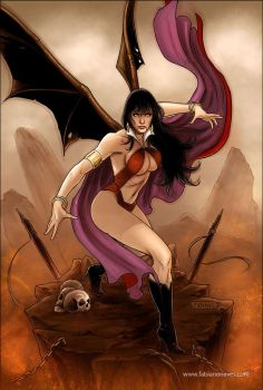 Vampirella 38 Cover colors by FabianoNeves