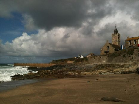 Sea-Side Church at Porthleven, Cornwall by saving-an-apocalypse