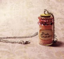 Bottle with pink cristals by Veil28