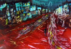 Spray painting Abstract - Hot boulevard by Airgone