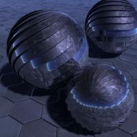 Armored Spheres at Night by fence-post