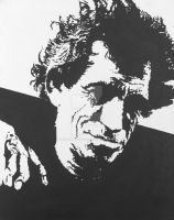 Keith Richards Acrylic by Jumping-Jack-Flash