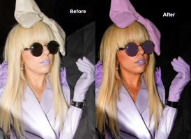 Lady gaga Before+After 3 by ItsCrazyConnor