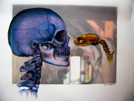 skull self portrait by zalazny