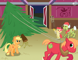 Apple Family Christmas by godzilla3092