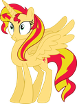 Grown up princess sunset shimmer by LPSfreak