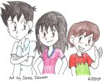 Alex, Justin and Max by Agufanatic98