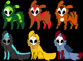 Draw to adopt Skull Fuzzy adopts Batch 3 CLOSED by LexiDog01