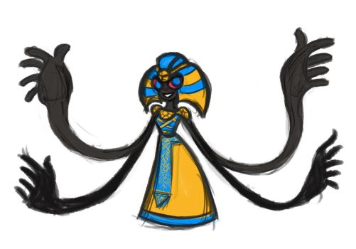pokefake cofagrigus sketch by HumbleSkribbles